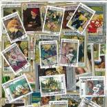 Gestempelte Briefmarkenensammlung französische Maler