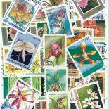 Collezione di francobolli orchidee cancellati