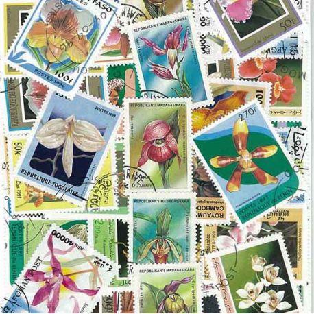 Orchidees: 100 verschiedene Briefmarken