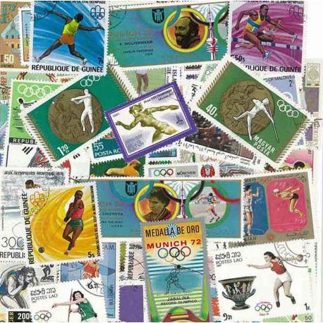 Athletisme Lancers : 100 timbres différents