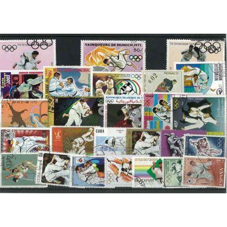 Judo: 25 verschiedene Briefmarken