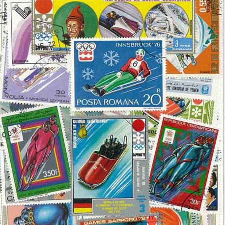 Collection Timbres sports hiver Collection de timbres Luge Et Bobsleigh oblitérés à partir de 3,75 €