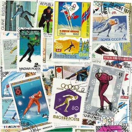 Collection Timbres sports hiver Collection de timbres Patinage Vitesse oblitérés à partir de 3,75 €