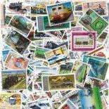Collezione di francobolli Locomotives cancellati