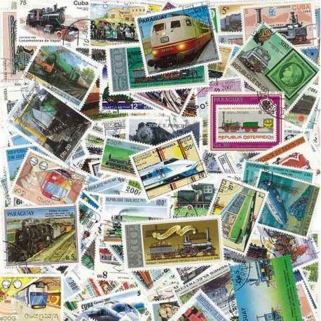 Lokomotiven: 100 verschiedene Briefmarken