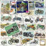 Sammlung gestempelter Briefmarken Motorräder