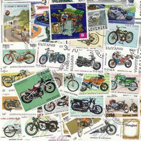 Motos : 100 timbres différents