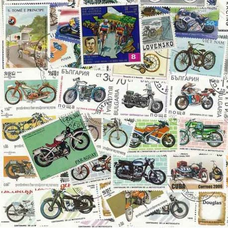Collection Timbres Autos-motos Collection de timbres Motos oblitérés à partir de 3,00 €