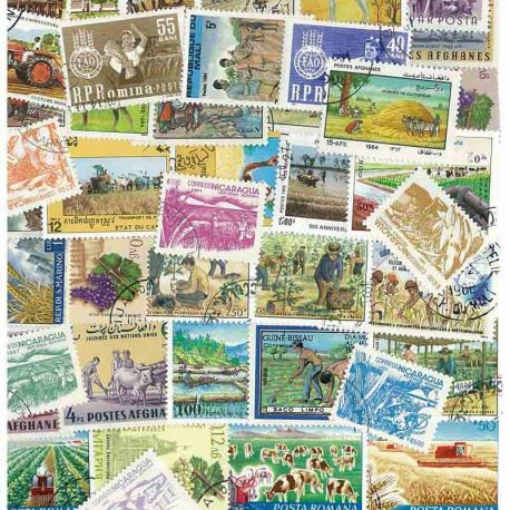 Collection de timbres Agriculture oblitérés