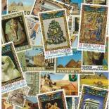 Used stamp collection Egyptian art