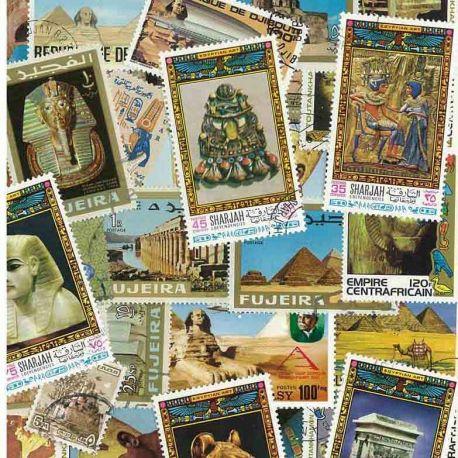 Ägyptische Kunst: 25 verschiedene Briefmarken