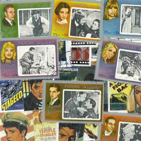 Künstler des Kinos: 25 verschiedene Briefmarken