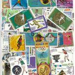 Collezione di francobolli atletica leggera cancellati