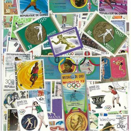 Athletics: 100 different stamps