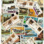 Collezione di francobolli attaccature cancellate
