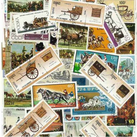 Kupplungen: 25 verschiedene Briefmarken