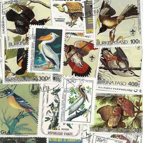 Collection de timbres Audubon oblitérés