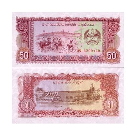 Laos - Pk N° 29 - Billet de 50 Kip