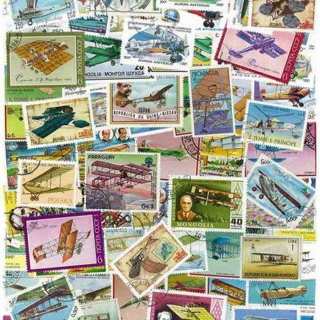 Avions Anciens : 100 timbres différents