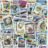 Collezione di francobolli palloni cancellati