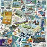 Collezione di francobolli barche cancellate