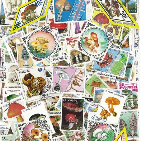 Pilze: 100 verschiedene Briefmarken