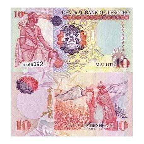 Lesotho - Pk N° 15 - Billet de 10 Maloti