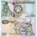 Collezione banconote Lesoto Pick numero 16 - 20 Maloti