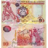 Banknoten Sammlung Lesotho Pick Nummer 21 - 10 Maloti