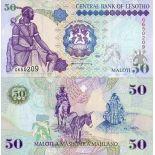 Collezione di banconote Lesoto Pick numero 17 - 50 Maloti