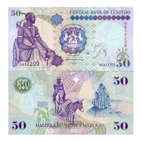 Billets de collection Billets collection Lesotho Pk N° 17 - 50 Maloti Billets du Lesotho 26,00 €