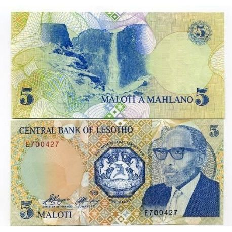 Billets de collection Billet de collection Lesotho Pk N° 10 - 5 Maloti Billets du Lesotho 9,00 €
