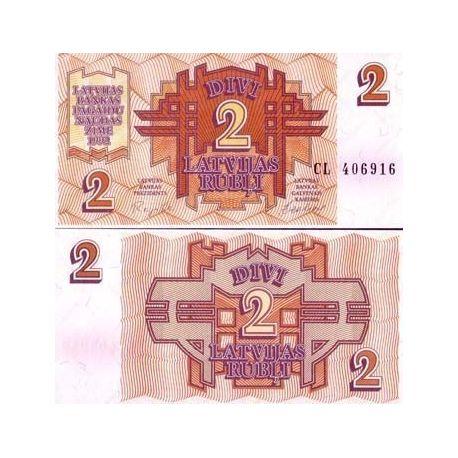 Billets de collection Billets de banque Lettonie Pk N° 36 - 2 Rubli Billets de Lettonie 4,00 €