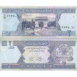 Los billetes de banco Afganistán Pick número 65 - 2 Afghani 2002