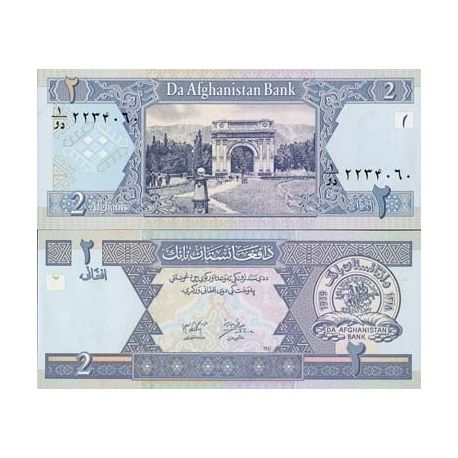 Billets de collection Billet de collection Afghanistan Pk N° 65 - 2 Afghanis Billets d'Afghanistan 1,00 €