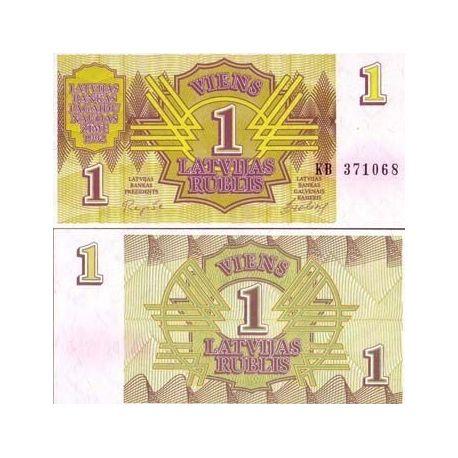 Lettonie - Pk N° 35 - Billet de 1 Rublis