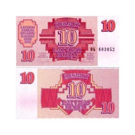 Lettonie - Pk N° 38 - Billet de 10 Rubli