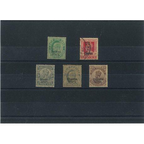 Collection de timbres Chamba oblitérés