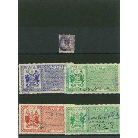 Collection de timbres Cutch oblitérés