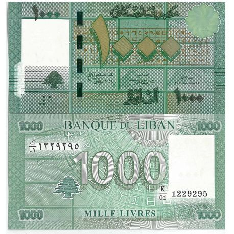 Billet de collection Liban Pk N° 90 - 1000 Livres