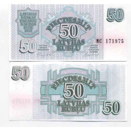Lettonie - Pk N° 40 - Billet de 50 Rubli