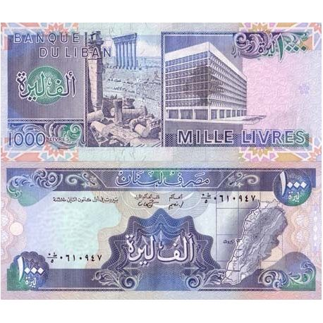 Billets de collection Billets de banque Liban Pk N° 69 - 1000 Livres Billets du Liban 3,00 €