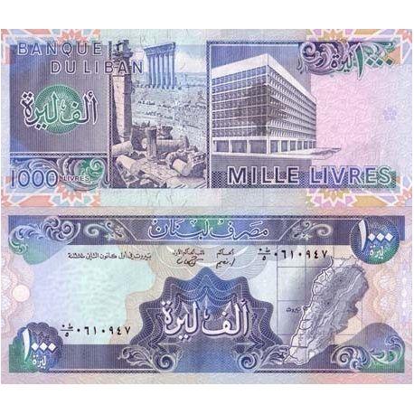 Liban - Pk N° 69 - Billet de 1000 Livres