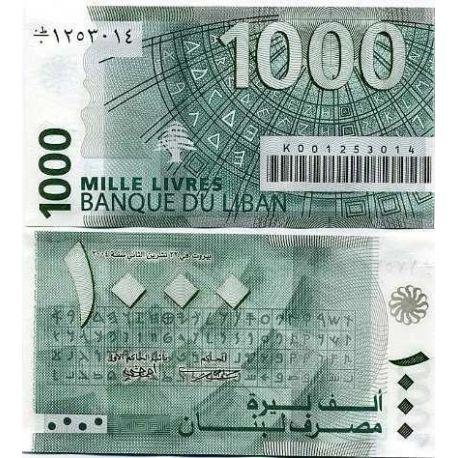 Billets de collection Billets banque Liban Pk N° 84 - 1000 Livres Billets du Liban 4,50 €