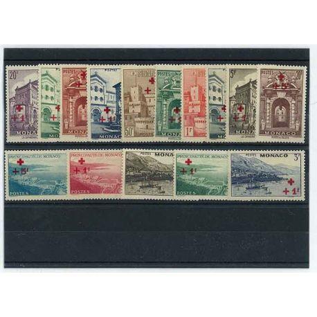 Timbre Monaco 1940 Année complète neuve