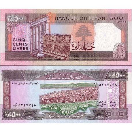 Liban - Pk N° 68 - Billet de 500 Livres