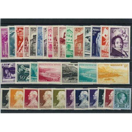 Monaco 1948 Année complète neuve