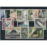 Sello Mónaco 1958 nuevo Año completo