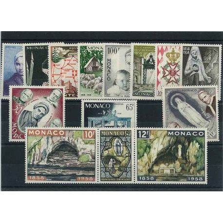 Monaco 1958 Année complète neuve