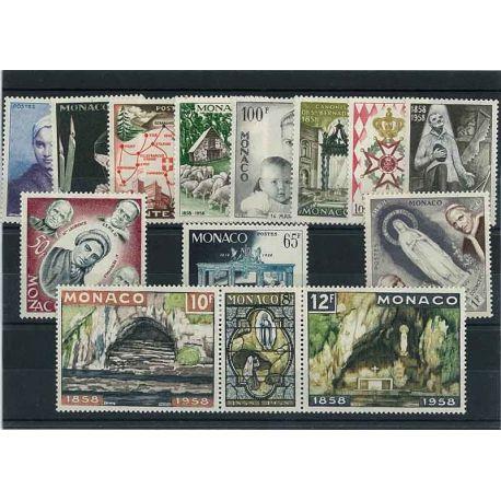 Timbre Monaco 1958 Année complète neuve